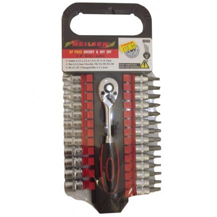 "Socket & Bit Set 27 Piece 1/4"" Drie - Metric"
